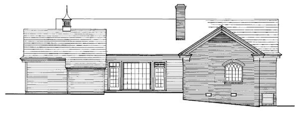 Traditional House Plan 86269 Rear Elevation