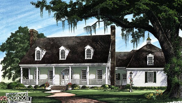 Cape Cod Colonial Cottage Country Plantation Southern House Plan 86270 Elevation