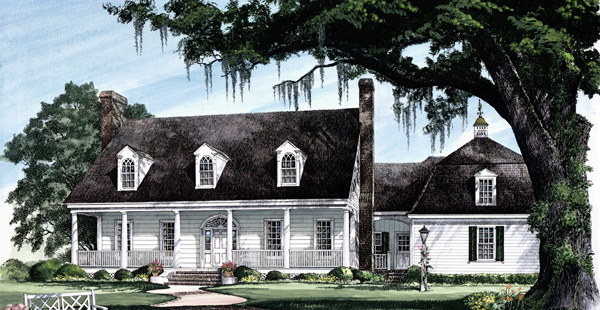 Cape Cod Colonial Southern Traditional House Plan 86271 Elevation