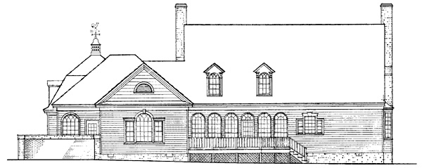 Cape Cod Colonial Southern Traditional House Plan 86271 Rear Elevation