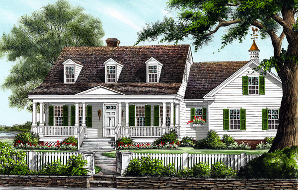 Colonial Cottage Country Southern House Plan 86273 Elevation