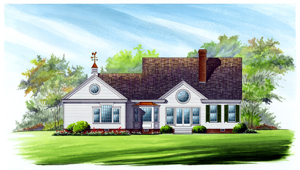 Colonial Cottage Country Southern House Plan 86273 Rear Elevation