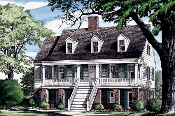 Coastal Country Southern Traditional House Plan 86275 Elevation