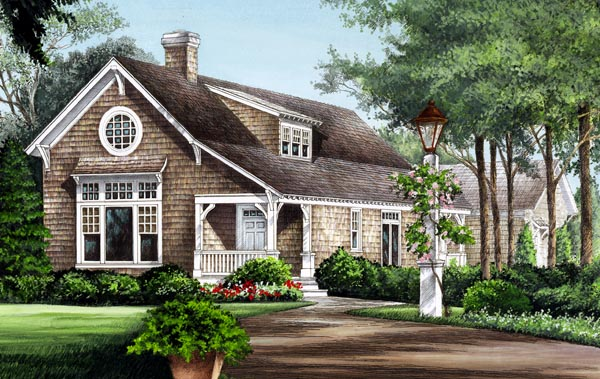 Cape Cod, Country, Craftsman, Traditional House Plan 86276 with 3 Beds, 3 Baths, 2 Car Garage Elevation