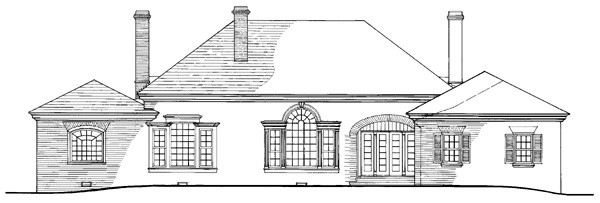 Colonial Southern Traditional House Plan 86279 Rear Elevation