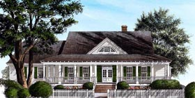 House Plan 86281   Country Southern Style Plan with 2406 Sq Ft, 3 Bedrooms, 3 Bathrooms, 2 Car Garage Elevation