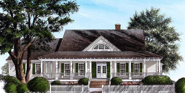 Country Southern House Plan 86281 Elevation