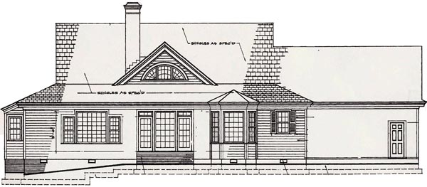 Country Southern House Plan 86281 Rear Elevation