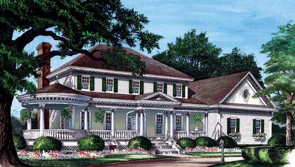 Colonial Country Farmhouse Victorian House Plan 86282 Elevation