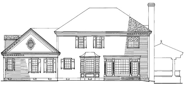 Colonial Country Farmhouse Victorian House Plan 86282 Rear Elevation