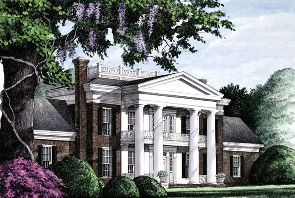 Colonial Plantation Southern House Plan 86283 Elevation