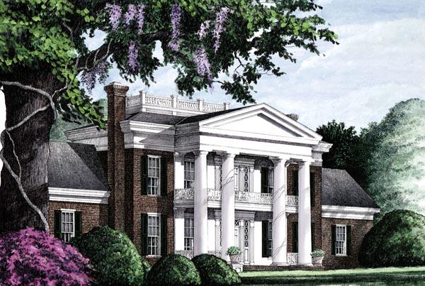 Colonial Plantation Southern House Plan 86283