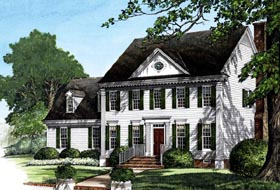 Traditional House Plan 86284 Elevation