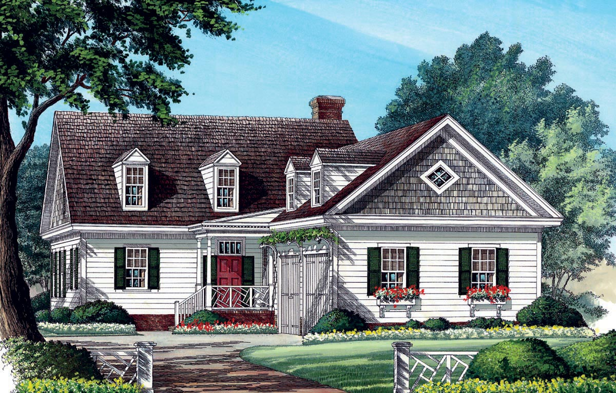 House plan 86285 at for Traditional southern house plans