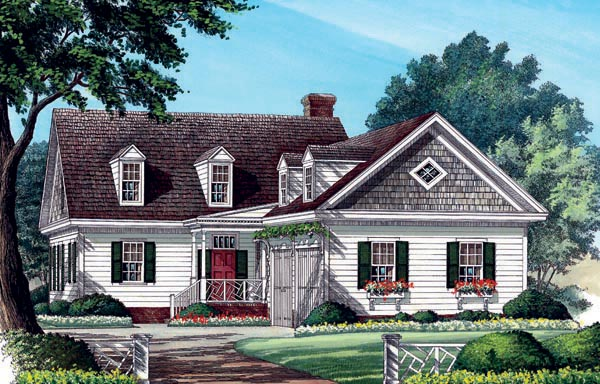 Colonial Southern Traditional House Plan 86285