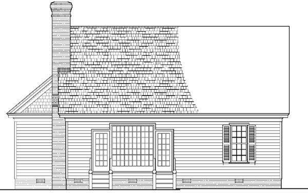 Colonial Southern Traditional House Plan 86285 Rear Elevation