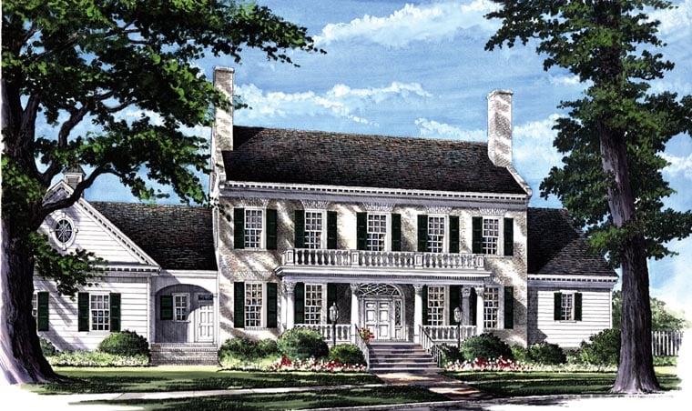 Colonial Plantation Southern House Plan 86287