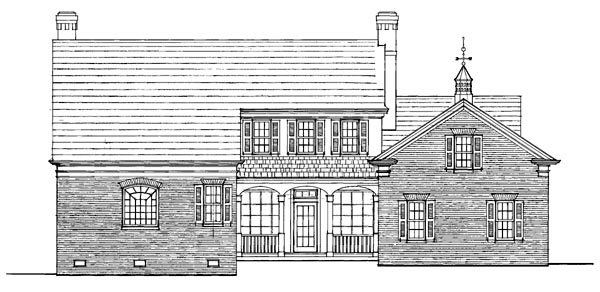 Traditional House Plan 86288 Rear Elevation