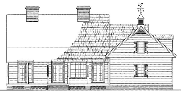 Cottage Country Farmhouse Traditional House Plan 86289 Rear Elevation