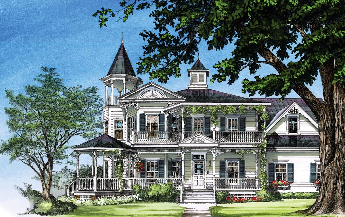Click Here To See An Even Larger Picture. Farmhouse Southern Victorian  House Plan ... Home Design Ideas