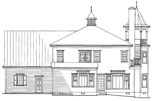 Farmhouse Southern Victorian House Plan 86291 Rear Elevation