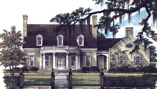 Colonial Southern Traditional House Plan 86292 Elevation