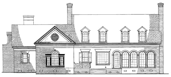 Colonial Southern Traditional House Plan 86292 Rear Elevation