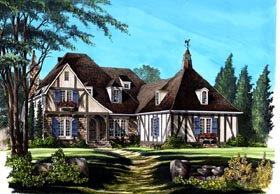 Country European House Plan 86293 Elevation