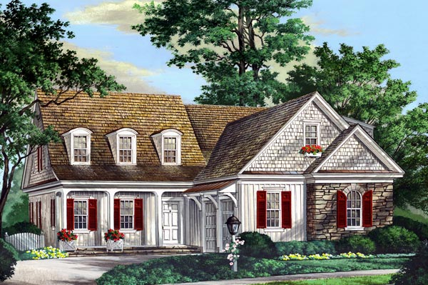 Traditional House Plan 86300 with 3 Beds, 4 Baths, 2 Car Garage Elevation