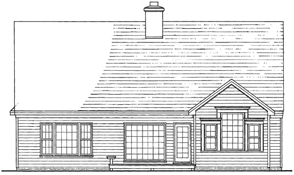 Cottage Traditional House Plan 86301 Rear Elevation