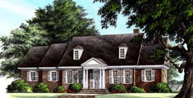 House Plan 86303 | Traditional Style Plan with 2215 Sq Ft, 4 Bedrooms, 4 Bathrooms, 2 Car Garage Elevation