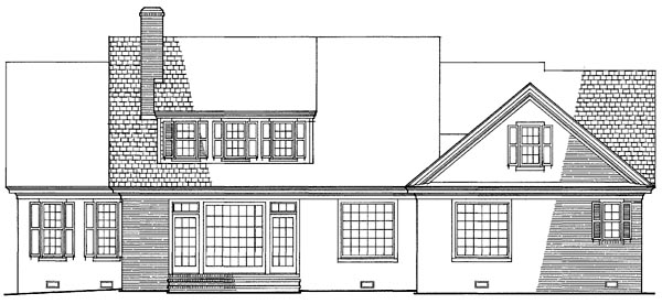 House Plan 86303 | Traditional Style Plan with 2215 Sq Ft, 4 Bedrooms, 4 Bathrooms, 2 Car Garage Rear Elevation
