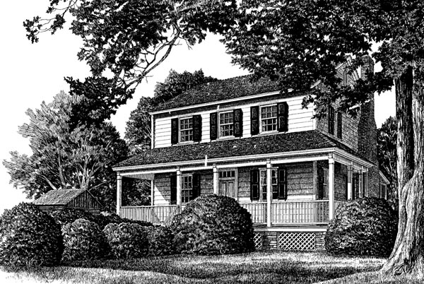 Cottage Country Farmhouse Traditional Elevation of Plan 86305