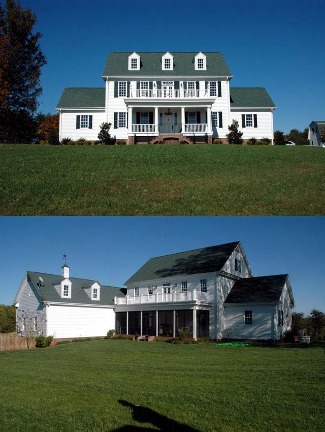 Colonial cottage country farmhouse traditional house plan for Traditional farmhouse plans