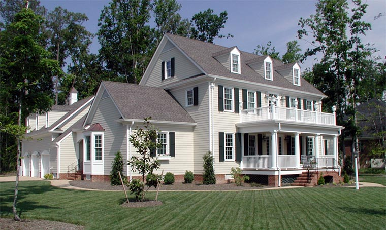 Colonial Cottage Country Farmhouse Traditional House Plan 86306