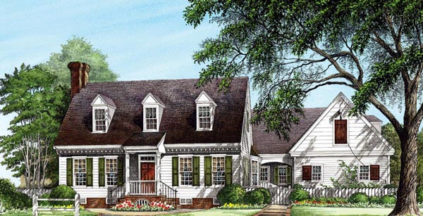 Colonial Traditional House Plan 86307 Elevation