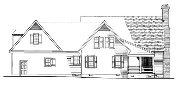 Colonial Traditional House Plan 86307 Rear Elevation