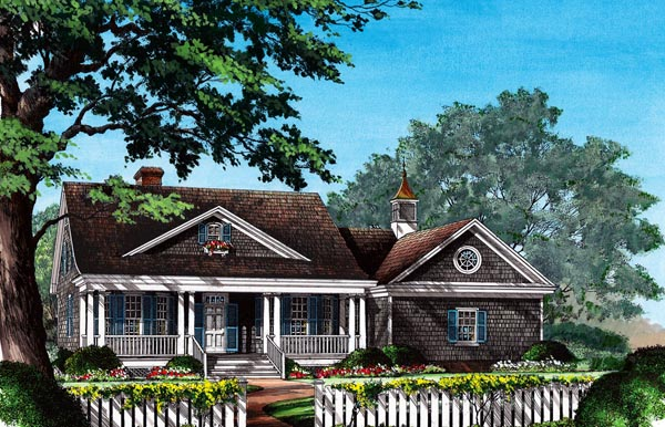 Cottage , Country House Plan 86309 with 3 Beds, 2 Baths, 2 Car Garage Elevation