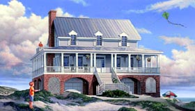 House Plan 86312 with 3 Beds, 4 Baths, 4 Car Garage Elevation