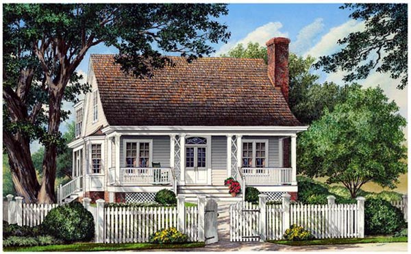 Country House Plan 86313 with 3 Beds, 3 Baths, 2 Car Garage Elevation