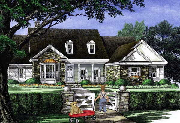 Cottage Country Farmhouse Traditional House Plan 86314 Elevation