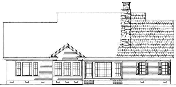 Cottage Country Farmhouse Traditional House Plan 86314 Rear Elevation