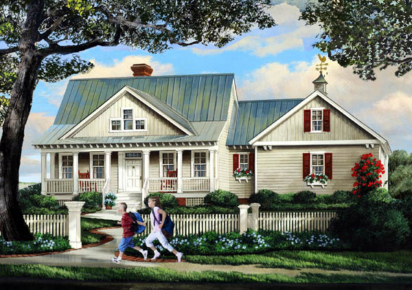 Country Southern House Plan 86315 Elevation