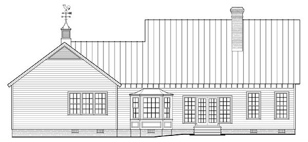Country Southern House Plan 86315 Rear Elevation