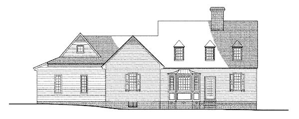 Colonial Traditional House Plan 86316 Rear Elevation