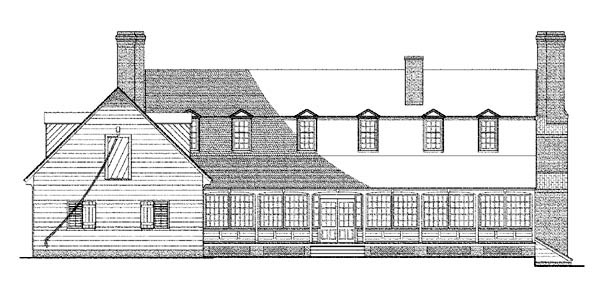 Southern House Plan 86321 Rear Elevation