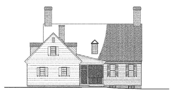 Colonial Traditional House Plan 86322 Rear Elevation