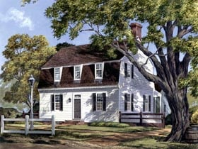 Colonial Traditional House Plan 86323 Elevation