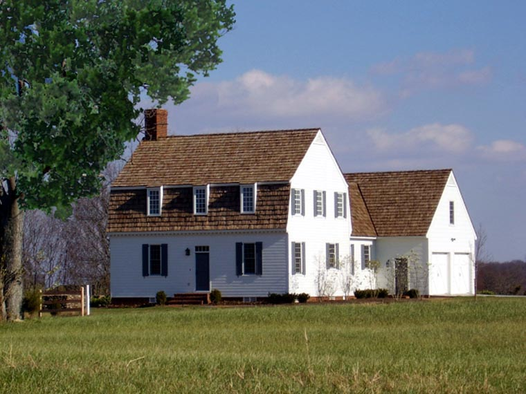 Colonial Traditional House Plan 86323