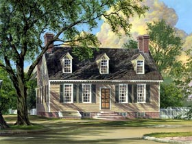 Cape Cod Colonial House Plan 86324 Elevation